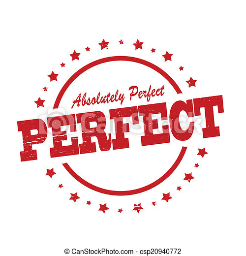 Vectors Illustration of Perfect - Stamp with word perfect inside ...