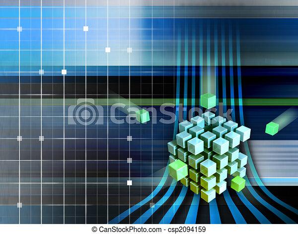 Techno cubes - csp2094159
