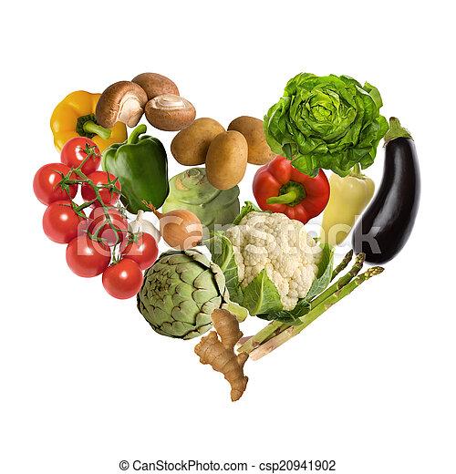 蔬菜, 心 - csp20941902
