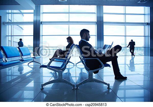 At the airport - csp20945813