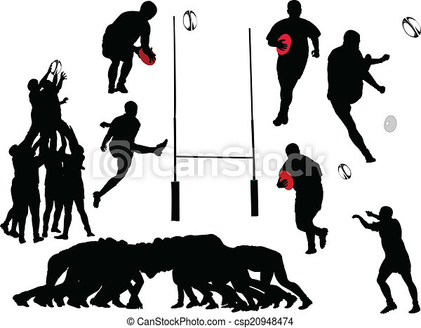 rugby player collection - vector - csp20948474