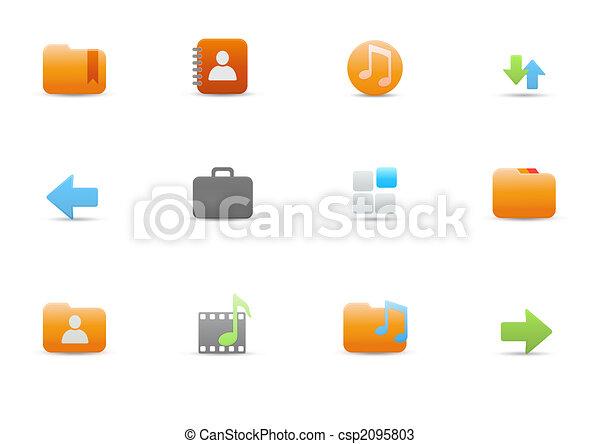 funciones, computadora, común, iconos - csp2095803