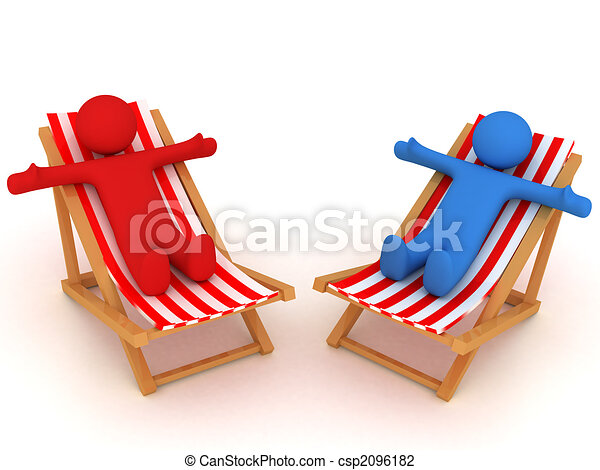 Persons on chaise Longue - csp2096182