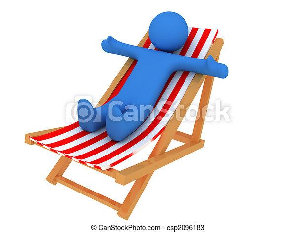 Dessins de personne sur chaise longue 3d render de for Chaise 3d dessin