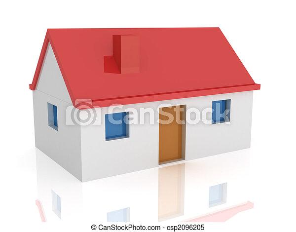 Banco de ilustra es de casa 3d 3d render casa for Disegnare casa 3d gratis italiano
