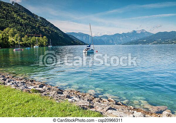 attersee,  Austria, lago - csp20966311
