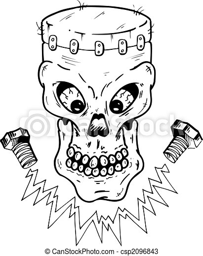 dessins de frankenstein  style  cr u00e2ne frankenstein frankenstein clipart black and white frankenstein clipart free