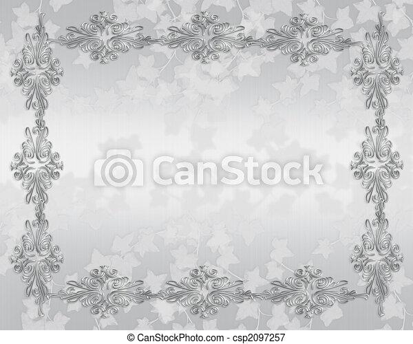 Wedding invitation elegant border - csp2097257