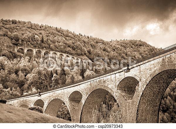 two ancient bridges - csp20973343