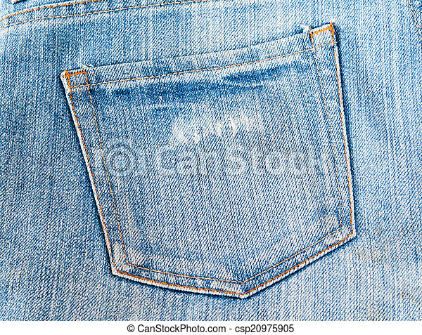 Blue jeans pocket. - csp20975905