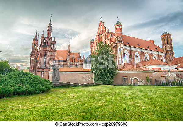 Churches in Vilnius, Lithuania - csp20979608