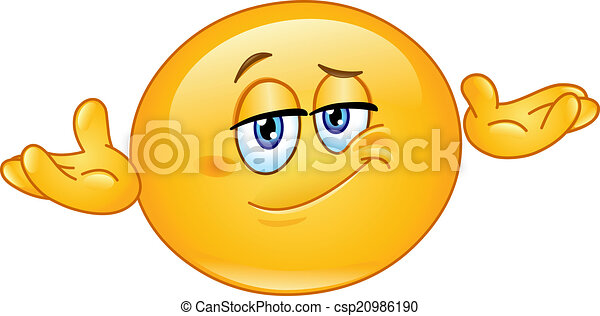 Who cares emoticon - csp20986190