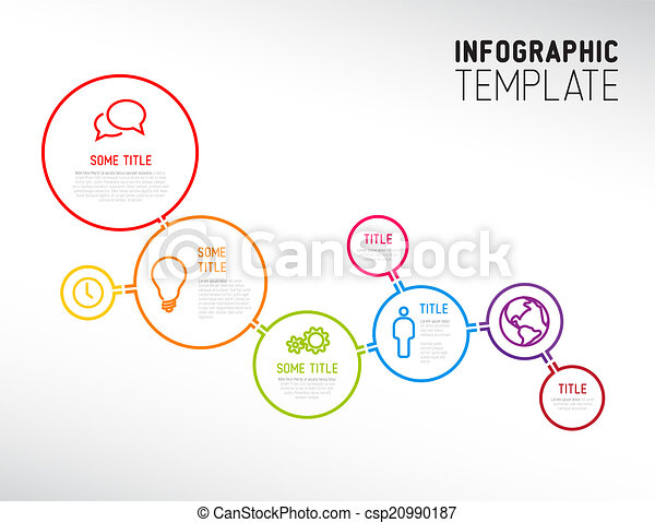 Infographic Ideas infographic lines : Vector of Modern Infographic report template made from lines and ...