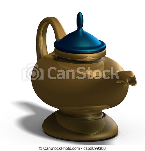 Aladdins magical lamp - csp2099388
