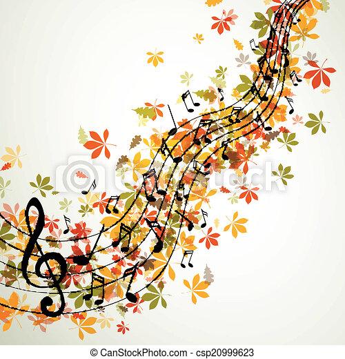 illustration vecteur de automne  notes  vecteur  musique clip art music notes border clip art music notes images