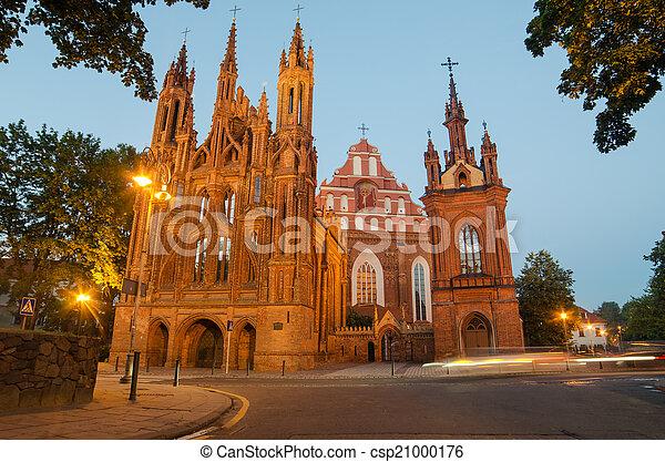 Churches in Vilnius, Lithuania - csp21000176