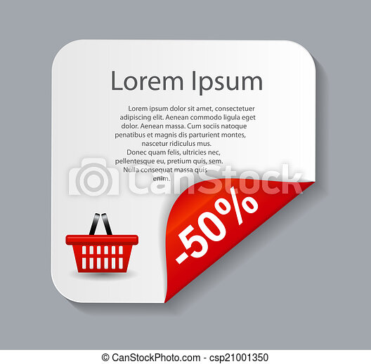 Sale banner with place for your text. vector illustration - csp21001350