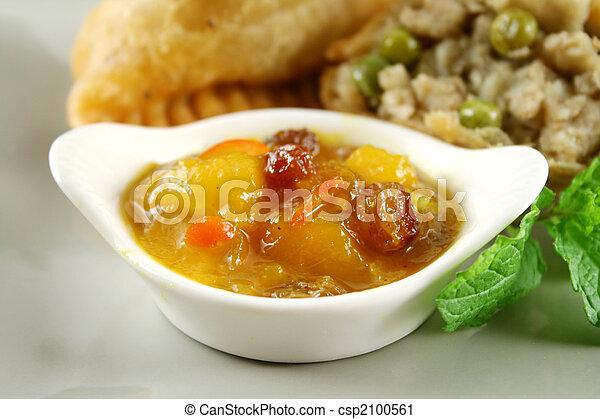 Mango Chutney With Samosa - csp2100561