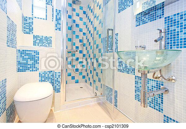 Blue lavatory 2 - csp2101309