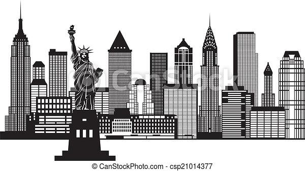 New York City Skyline Black And White Drawing New York City Skyline Black