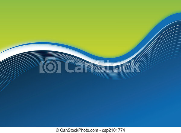 blue and green business background - csp2101774