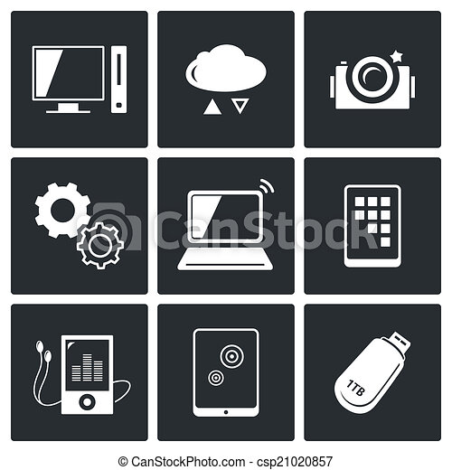 Clipart Vector Of Exchange Of Information Technology Icons ...