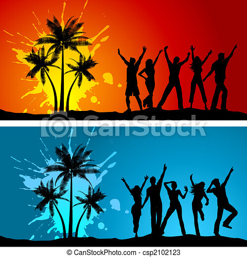 Beach party Clip Art Vector and Illustration. 7,256 Beach party ...