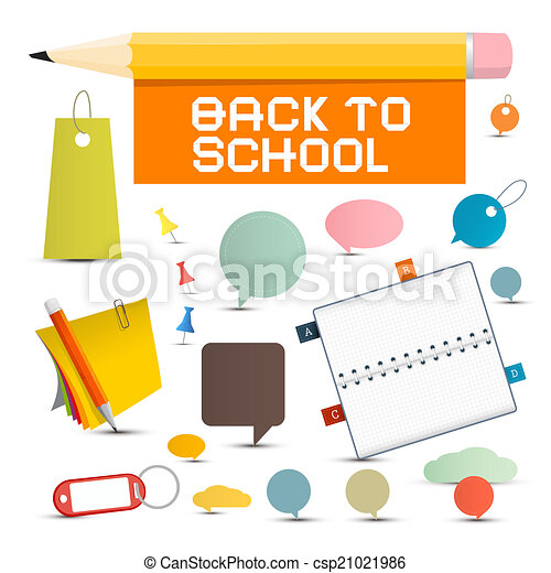 Vector Back to School Objects - csp21021986