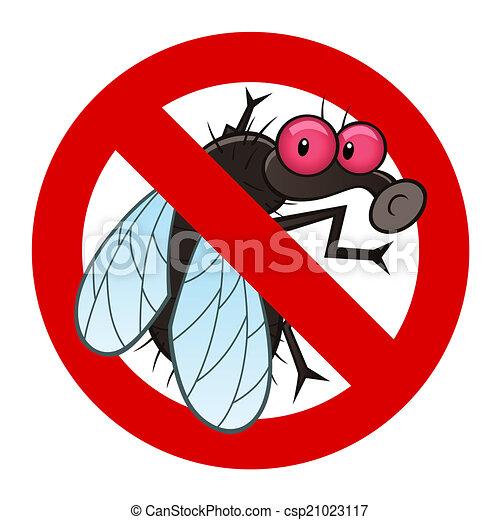 vektor clip art von fliegen anti zeichen anti plage zeichen mit a csp21023117. Black Bedroom Furniture Sets. Home Design Ideas