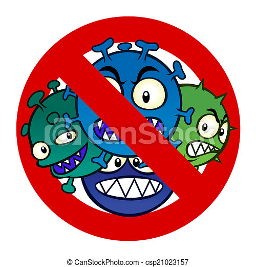 Clipart Vector of anti virus sign - Anti disease sign with ...
