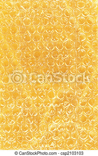 Bubble Wrap on Yellow Paper - csp2103103