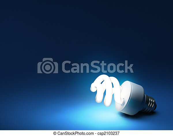 Compact Fluorescent Bulb - Resting on ground - csp2103237