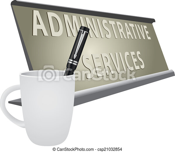 vecteur clipart de plaque bureau administratif services table plaque csp21032854. Black Bedroom Furniture Sets. Home Design Ideas