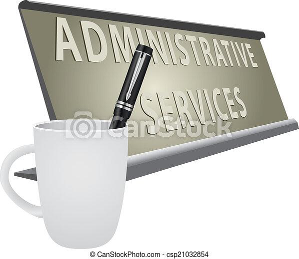 Vecteur Clipart De Services Plaque Administratif Bureau