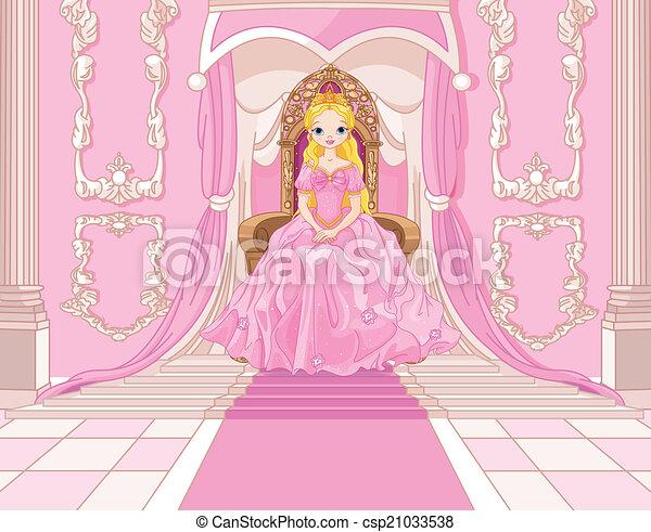 Princess on the throne - csp21033538