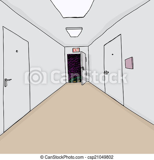 Clipart vecteur de sortie monstre main dessin dessin - Comment fermer un couloir ...