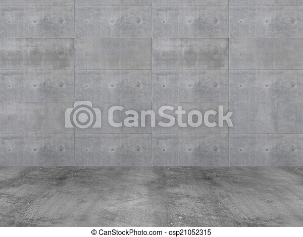 concrete wall with concrete floor,3 - csp21052315
