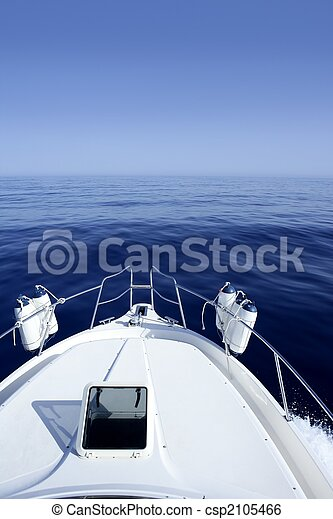 Boat on the blue Mediterranean Sea yachting - csp2105466