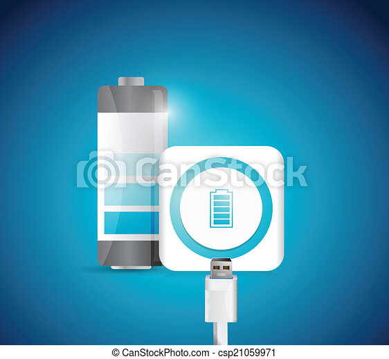 battery charge illustration - csp21059971