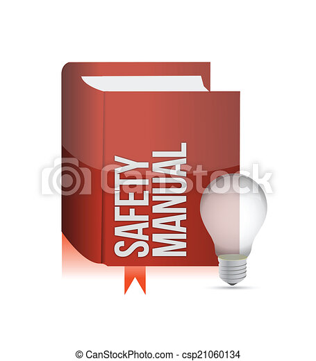 Vectors Of Safety Manual Book Illustration Design Over A White