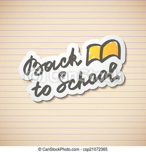 back to school - csp21072365