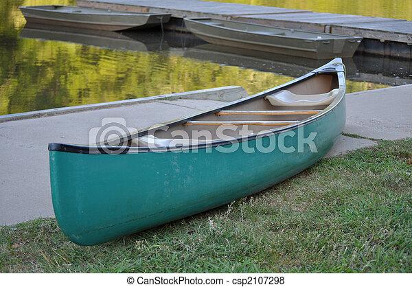 Large Green Canoe - csp2107298