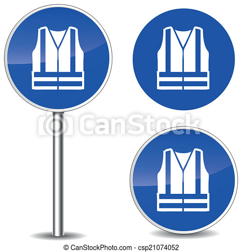 Safety Logos Vector Vector Safety Vest Sign