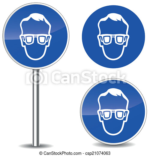 Safety Goggles Vector Vector Safety Glasses Sign