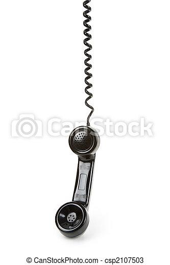 Black telephone Receiver - csp2107503