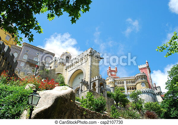National Palace of Pena in Sintra, Portugal - csp2107730