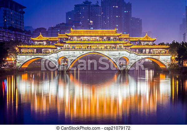 Chengdu Bridge - csp21079172