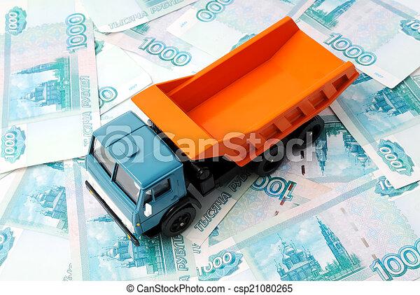 Car and money - csp21080265