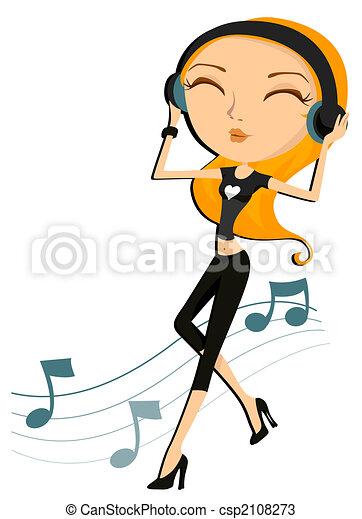 Music Girl - csp2108273