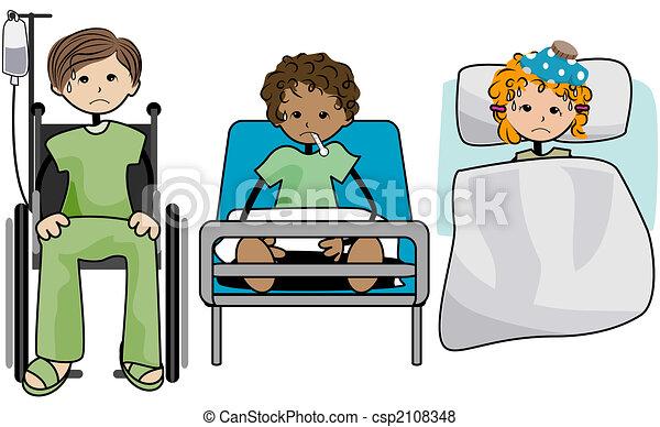Stock de Ilustraciones de niños, enfermo - enfermo, niños ...